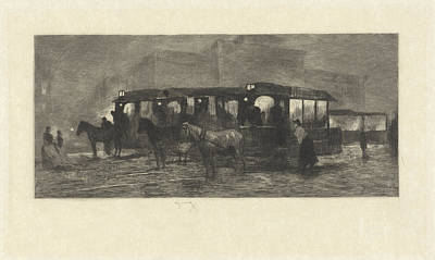Square At Night, Willem Steelink II Print by Willem Steelink (ii)