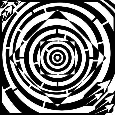 Square Bent Maze Art Print