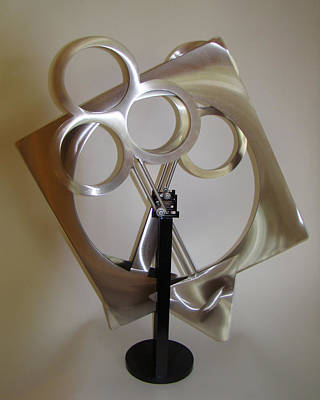 Sculpture - Square Circle Triangle Trinity - Sold by Tom Brewitz