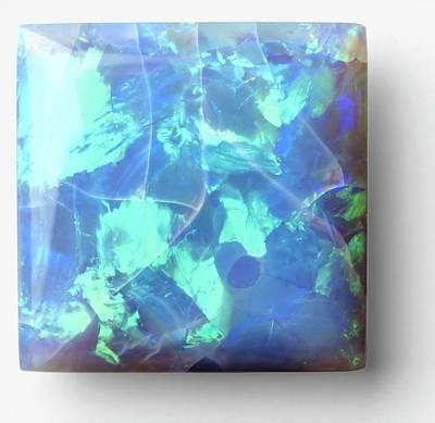Opal Photograph - Square Cut Opal by Dorling Kindersley/uig