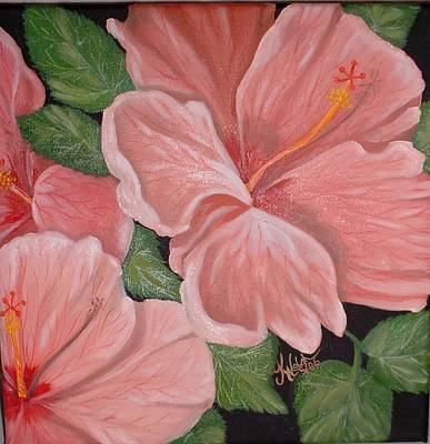 Square Foot Hibiscus Art Print by Kathern Welsh