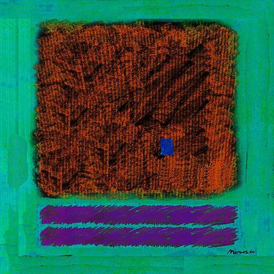Square On Turquoise Art Print