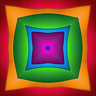 Digital Art - Square Portal by T T