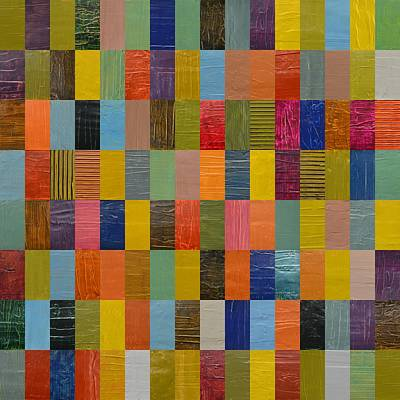Block Quilts Painting - Square Rectangles by Michelle Calkins
