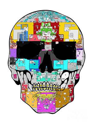 Square Skull Art Print by Mauro Celotti
