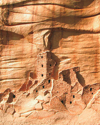 Relief - Square Tower House Mesa Verde by Carl Bandy