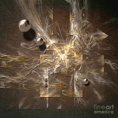 Digital Art - Square With Bubbles by Alexa Szlavics