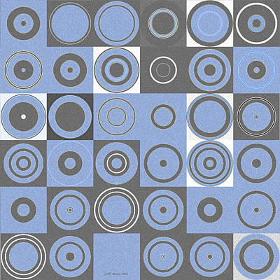 Digital Art - Squares And Circles 2 by Judi Suni Hall