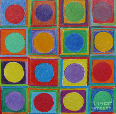 Drawing - Squares And Circles by Patricia Januszkiewicz