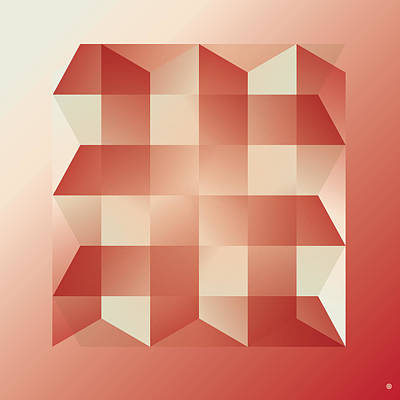 Squares And Columns Print by Gary Grayson