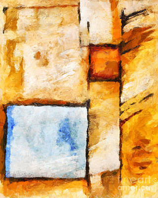 Colorfields Painting - Squares by Lutz Baar