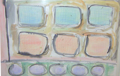Painting - Squares Over Circles by Esther Newman-Cohen
