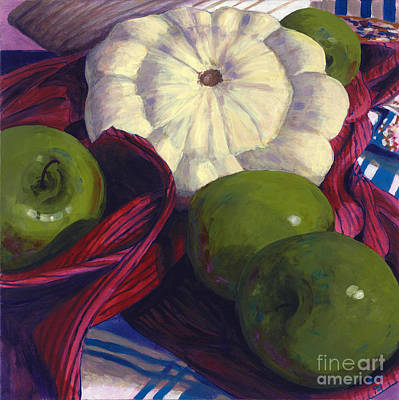 Squash And Apples Art Print