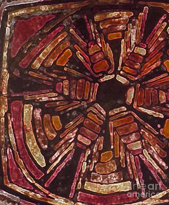 Tapestries - Textiles Digital Art - Squash Blossom Glowing Edges by Lori Russell