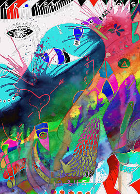 Batik Photograph - Squash The Squabble  by Jerry Cordeiro