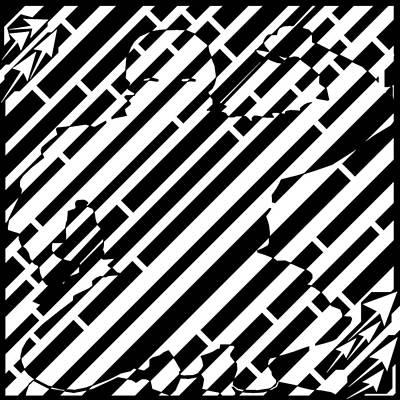 Sports Maze Drawing - Squatting Ninja Slice Maze  by Yonatan Frimer Maze Artist