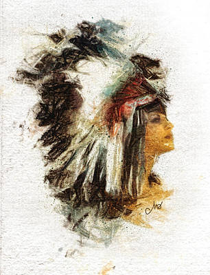 Painting - Squaw by Mo T