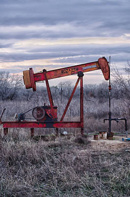 Photograph - Squeaky Old Pump Jack by Kelly Kitchens