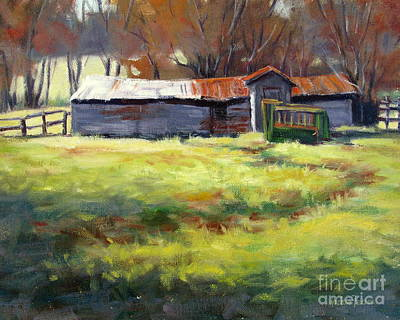 Painting - Squeeze Chute by Vickie Fears