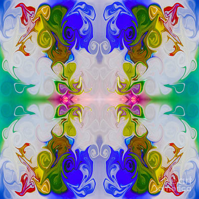 Digital Art - Squeezing Into Paradise Absract Healing Artwork By Omaste Witkow by Omaste Witkowski