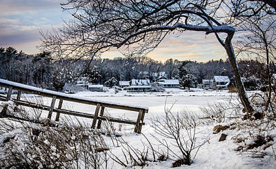 Photograph - Squeteague Harbor Winter by Jennifer Kano