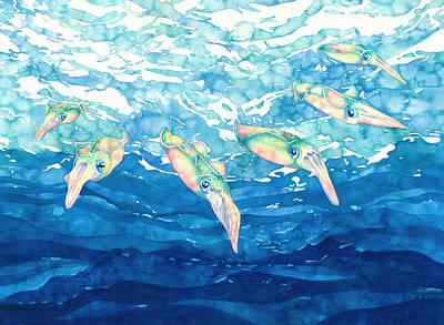 Painting - Squid Ballet by Pauline Walsh Jacobson