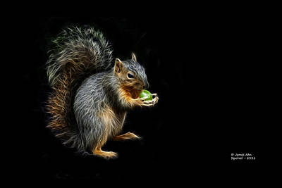 Digital Art - Squirrel - 8331 - F by James Ahn