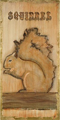 Barking Painting - Squirrel by Inger Ostrom