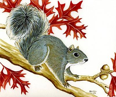 Painting - Squirrel by Lori Ziemba