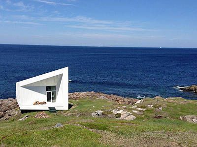 Photograph - Squish Studio Tilting Fogo Island Newfoundland by Lisa Phillips