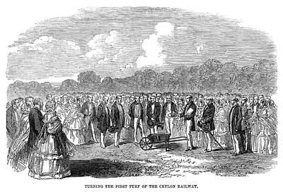 Inauguration Painting - Sri Lanka Railway, 1858 by Granger