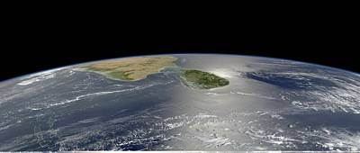 Sri Lanka, Satellite Image Print by Science Photo Library