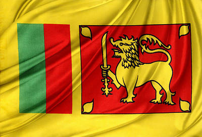 Waving Flag Photograph - Sri Lankan Flag by Les Cunliffe
