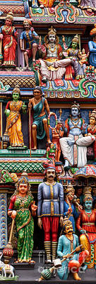 Sri Mariamman Temple 03 Art Print by Rick Piper Photography