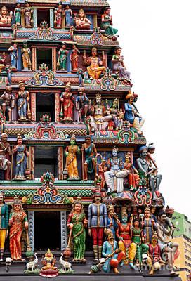 Hindu Mythology Photograph - Sri Mariamman Temple 08 by Rick Piper Photography