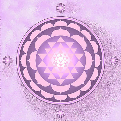 Shakti Digital Art - Sri Yantra Cosmic Ocean by Udaysree Nithyananda