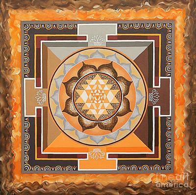 Sri Yantra Painting - Sri Yantra by Maya B