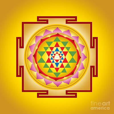 Shakti Digital Art - Sri Yantra by Soulscapes - Healing Art