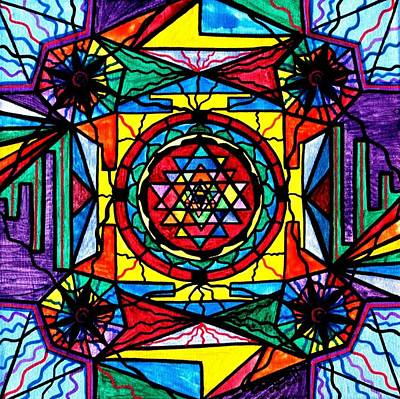 Allopathic Painting - Sri Yantra by Teal Eye  Print Store