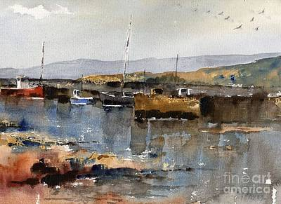 Painting - Sruthan Harbour Connemara by Val Byrne