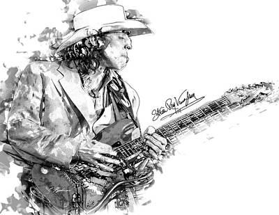 Stevie Ray 1 Art Print by Gary Bodnar