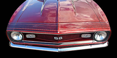 Photograph - Ss Camaro Grille 1968 by Gill Billington