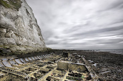 White Cliffs Of Dover Photograph - Ss Falcon by Ian Hufton