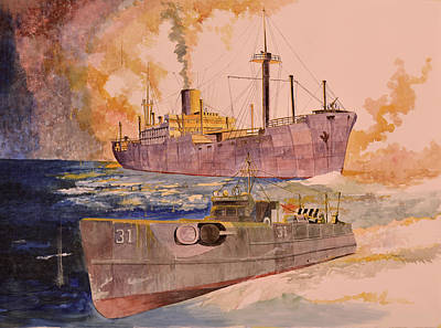 Painting - Ss Glenorchy by Ray Agius