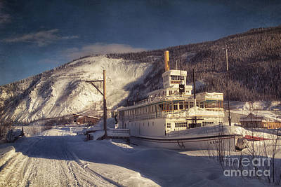 Steamboat Photograph - S.s. Keno Sternwheel Paddle Steamer by Priska Wettstein