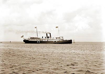 Miami Drawing - S.s. Miami, Biscayne Bay, Miami, Fla, Miami Steamship by Litz Collection