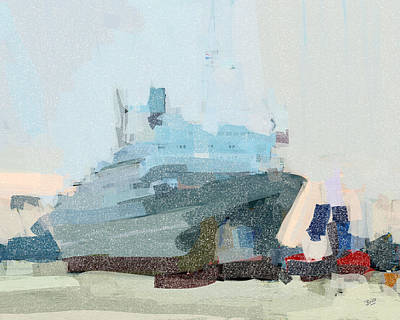 Holland Painting - Ss Rotterdam by Nop Briex