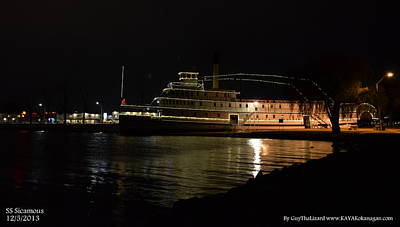 Ss Sicamous Photograph - Ss Sicamous - Night Shot by Guy Hoffman