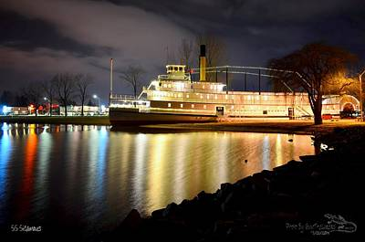Ss Sicamous Steam Ship 1/21/2014  Art Print by Guy Hoffman