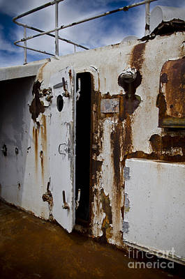 Ss United States Rusted Door Art Print by Jessica Berlin
